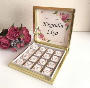 İsme özel çikolata kutusu